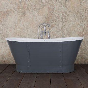 Hurlingham Sudbury Cast Iron Roll Top Bath 1700mm L x 715mm W - 0 Tap Hole