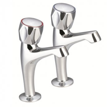JTP Astra High Rise Kitchen Sink Taps Pair - Chrome