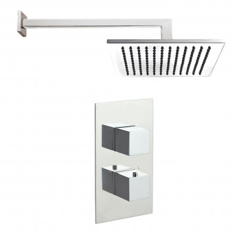 JTP Athena Square Dual Concealed Mixer Shower with Fixed Head