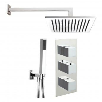JTP Athena Triple Concealed Mixer Shower with Shower Handset + Fixed Head