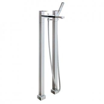 JTP Athena Lever Floor Standing Bath Shower Mixer Tap with Kit - Chrome