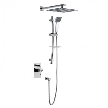 JTP Carlo Concealed Shower Adjustable Riser Kit with Fixed Head - Chrome