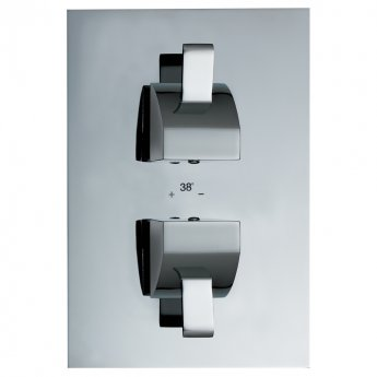 JTP Carlo Thermostatic Concealed Shower Valve with Diverter Dual Handle - Chrome