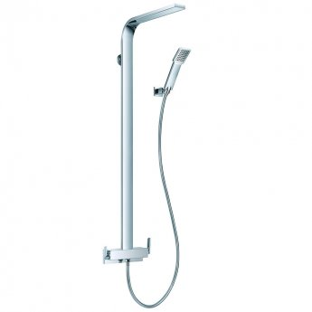 JTP Cascata Exposed Bar Shower Mixer with Shower Kit and Fixed Head