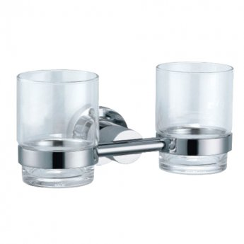 JTP Cora Double Tumbler Holder, Chrome