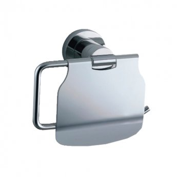 JTP Cora Toilet Paper Holder and Lid, Chrome
