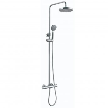 JTP Eco Thermostatic Bar Mixer Shower with Shower Kit + Fixed Head