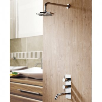 JTP Florence Dual Concealed Mixer Shower with Spout + Fixed Head