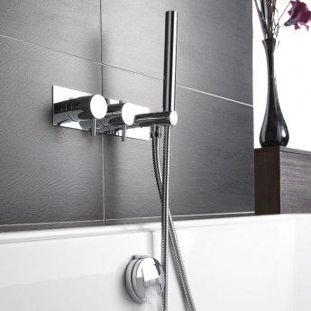 JTP Florence Dual Concealed Mixer Shower with Shower Handset + Bath Filler