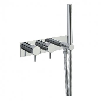JTP Florence Dual Concealed Mixer Shower with Attached Handset + Fixed Head