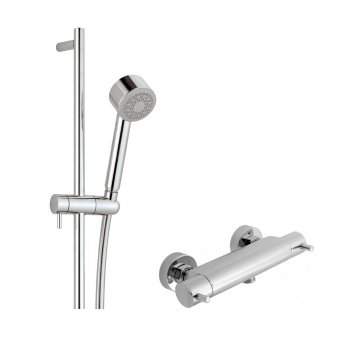 JTP Florence Thermostatic Shower Valve with Shower Rail Kit - Chrome