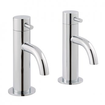 JTP Florence Basin Taps Pair without Pop Up Waste - Chrome