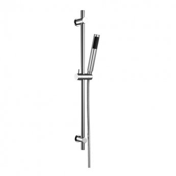 JTP Fusion Thermostatic Bath Shower Mixer Tap with Shower Rail Kit - Chrome