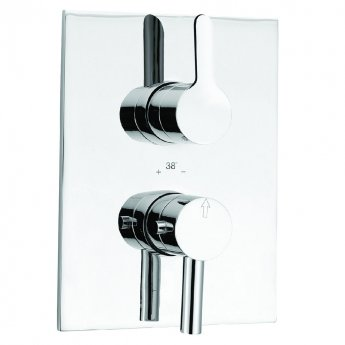JTP Fusion Concealed Shower Valve Dual Handle - Chrome
