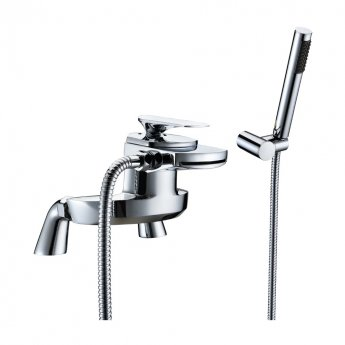 JTP Gant Deck Mounted Bath Shower Mixer Tap with Kit - Chrome