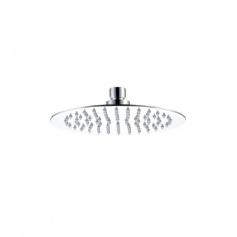 JTP Glide Ultra-Thin Round Ceiling Mounted Fixed Shower Head 200mm Diameter - Chrome