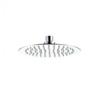 JTP Glide Ultra-Thin Round Ceiling Mounted Fixed Shower Head 250mm Diameter - Chrome