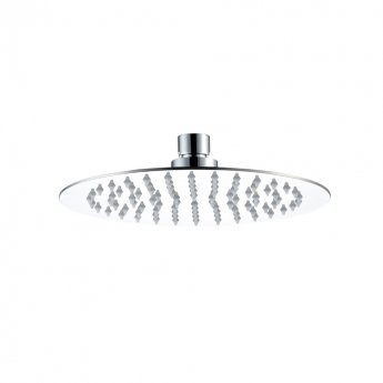 JTP Glide Ultra-Thin Round Ceiling Mounted Fixed Shower Head 300mm Diameter - Chrome