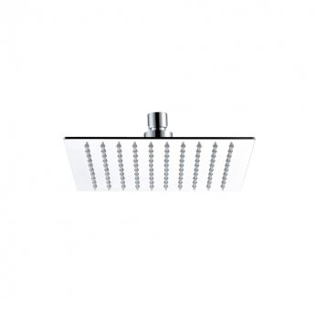 JTP Glide Ultra-Thin Square Ceiling Mounted Fixed Shower Head 250mm x 250mm - Chrome