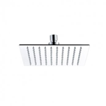 JTP Glide Ultra-Thin Square Ceiling Mounted Fixed Shower Head 300mm x 300mm - Chrome