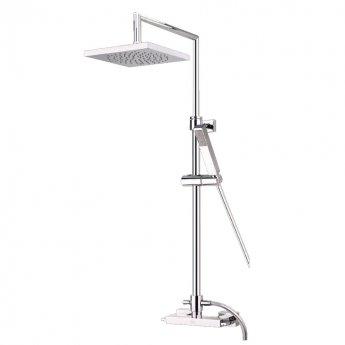 JTP Idea Rigid Riser with Adjustable Shower Head and Shower Valve + Hand Shower
