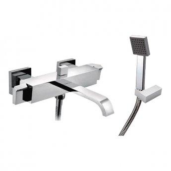 JTP Leo Bath Shower Mixer Tap Wall Mounted - Chrome