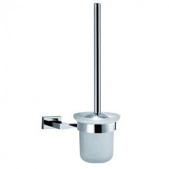 JTP Ludo Toilet Brush and Holder, Chrome