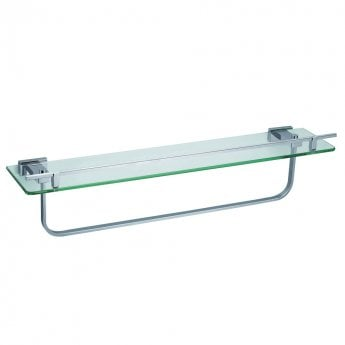 JTP Ludo Tempered Glass Shelf and Bar, Chrome
