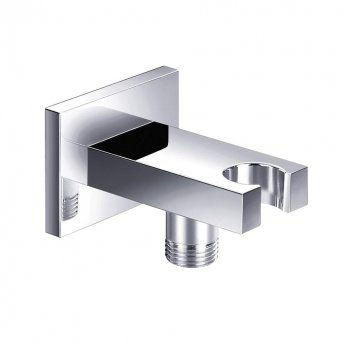 JTP Minimalist Shower Outlet Elbow, Holder, Chrome
