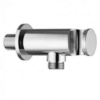 JTP Minimalist Shower Outlet Elbow, Wall Support, Chrome