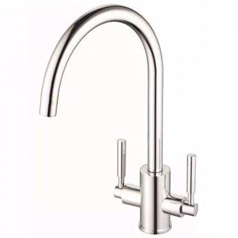 JTP Newbury Mono Kitchen Sink Mixer Tap, Swivel Spout, Dual Handle, Chrome