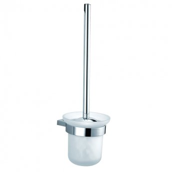 JTP Plus Toilet Brush and Holder, Chrome