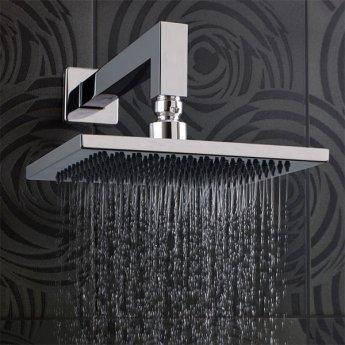 JTP Rainshower Fixed Shower Head, 300mm x 300mm, Chrome