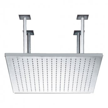 JTP Rainshower Square Fixed Shower Head, 600mm x 600mm, Chrome