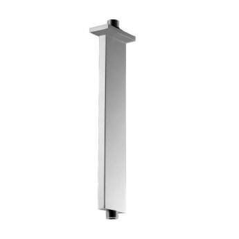 JTP Rectangular Ceiling Mounted Shower Arm, 300mm, Chrome
