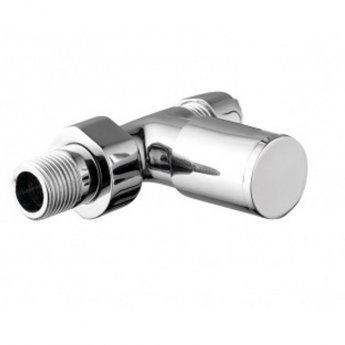 JTP Round Straight Radiator Valves, 15mm, Pair, Chrome