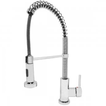 JTP Spring Mono Kitchen Sink Mixer Tap Pull Out Spout - Chrome