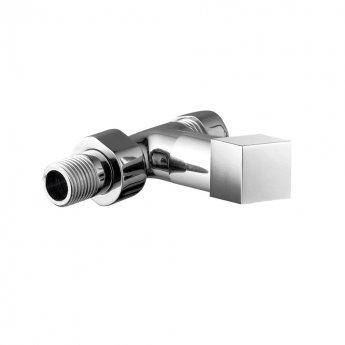 JTP Square Straight Radiator Valves, 15mm, Pair, Chrome