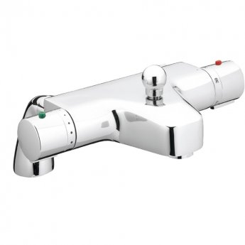 JTP Thermostatic Bath Shower Mixer Tap Pillar Mounted - Chrome