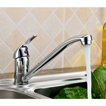 JTP Topmix Mono Kitchen Sink Mixer Tap Swivel Spout - Chrome