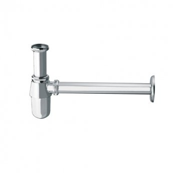 JTP Traditional Bottle Trap, 300mm Extension Pipe, Chrome