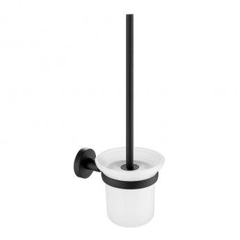 JTP Vos Toilet Brush and Holder - Matt Black