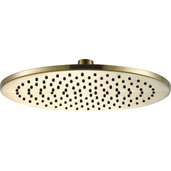 JTP Vos Round Fixed Shower Head 250mm Diameter - Brushed Brass