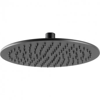 JTP Vos Round Fixed Shower Head 250mm Diameter - Matt Black