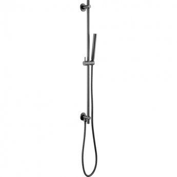 JTP Vos Slide Rail with Single Function Hand Shower and Shower Hose - Matt Black