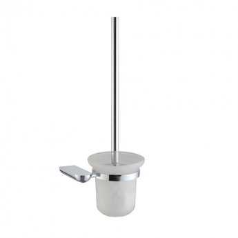 JTP Vue Toilet Brush and Holder, Chrome
