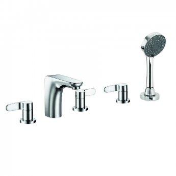 JTP Vue 5-Hole Bath Shower Mixer Tap Deck Mounted - Chrome