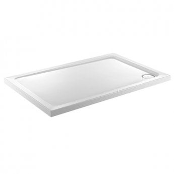 Just Trays JT Fusion Rectangular Shower Tray with Waste 1000mm x 800mm Flat Top