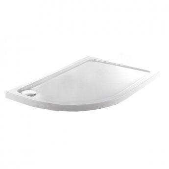 Just Trays JT Fusion Offset Quadrant Shower Tray with Waste 900mm x 760mm Left Handed Flat Top