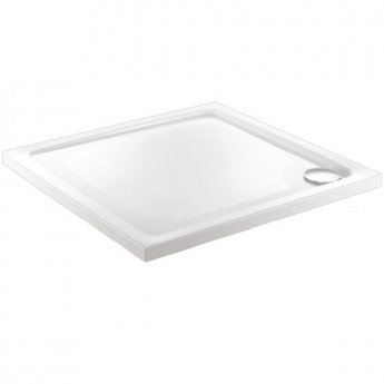 Just Trays JT Fusion Square Shower Tray with Waste 800mm x 800mm Flat Top